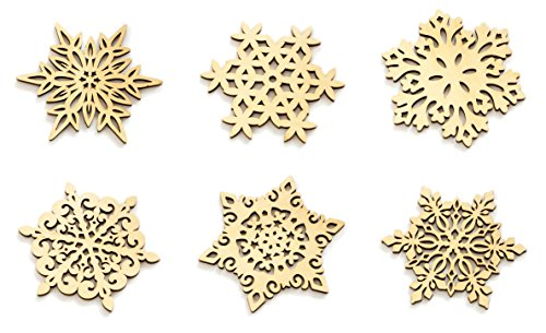 落ち着いた アンティーク風 オシャレ 雪の結晶 木製 コースター 6枚セット おもてなしにピッタリ