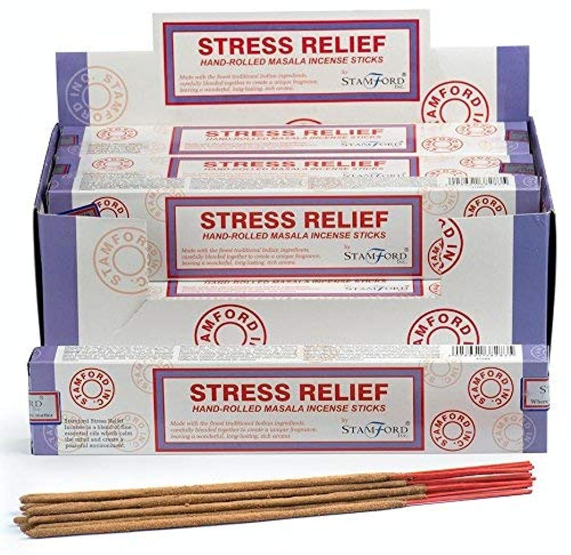 良いメニュー消毒剤STAMFORD INC。37283ストレスリリーフマサラ香、12パックx 15本