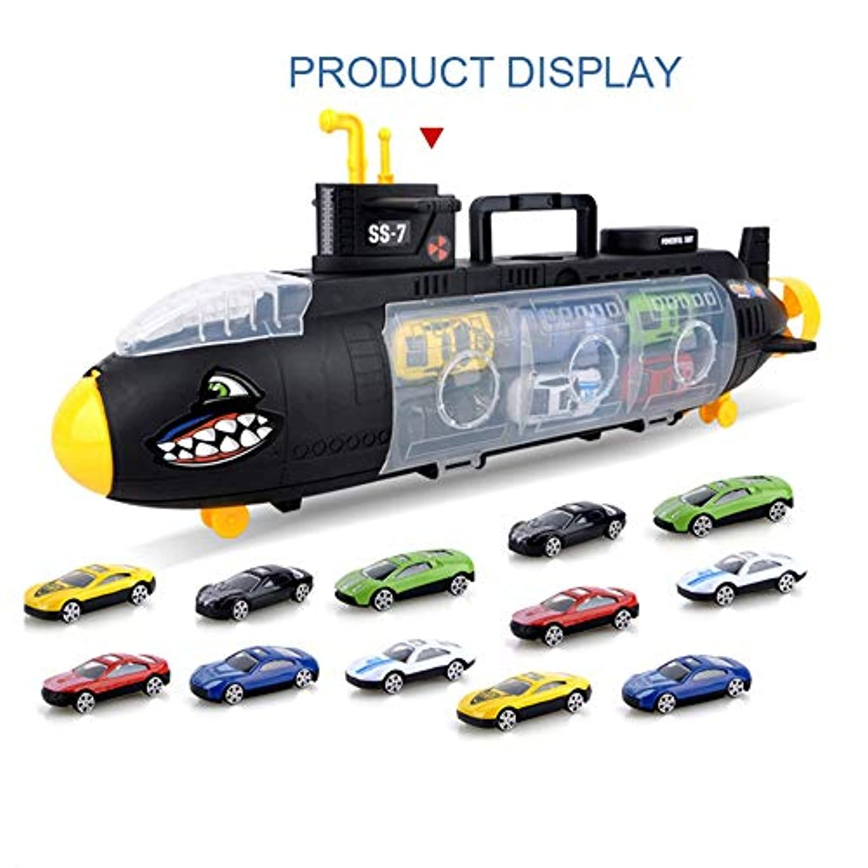 Coerni ベビー玩具 サブマリン 合金 車 教育玩具 モデル シーンセット 携帯収納ボックス 子供用