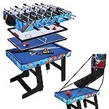 HLC 5in1テーブルゲーム テーブルサッカー、卓球、ホッケー、ビリヤード 、バスケットボールゲーム