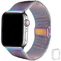 WFEAGL コンパチブル apple watch バンド, コンパチブルiWatch通用ベルト apple watch series 6/5/4/3/2/1, SE に対応 交換ベルトステンレス製(38mm 40mm, カラフル)