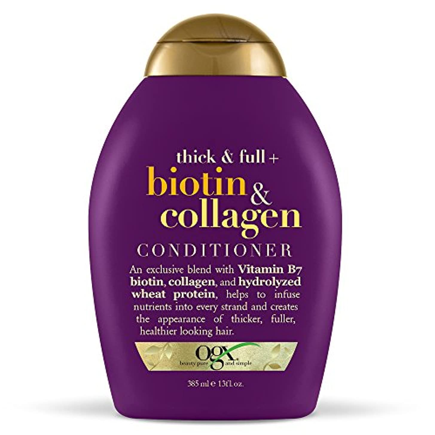 味フォークフラップOrganix Conditioner Biotin & Collagen 385 ml (並行輸入品)