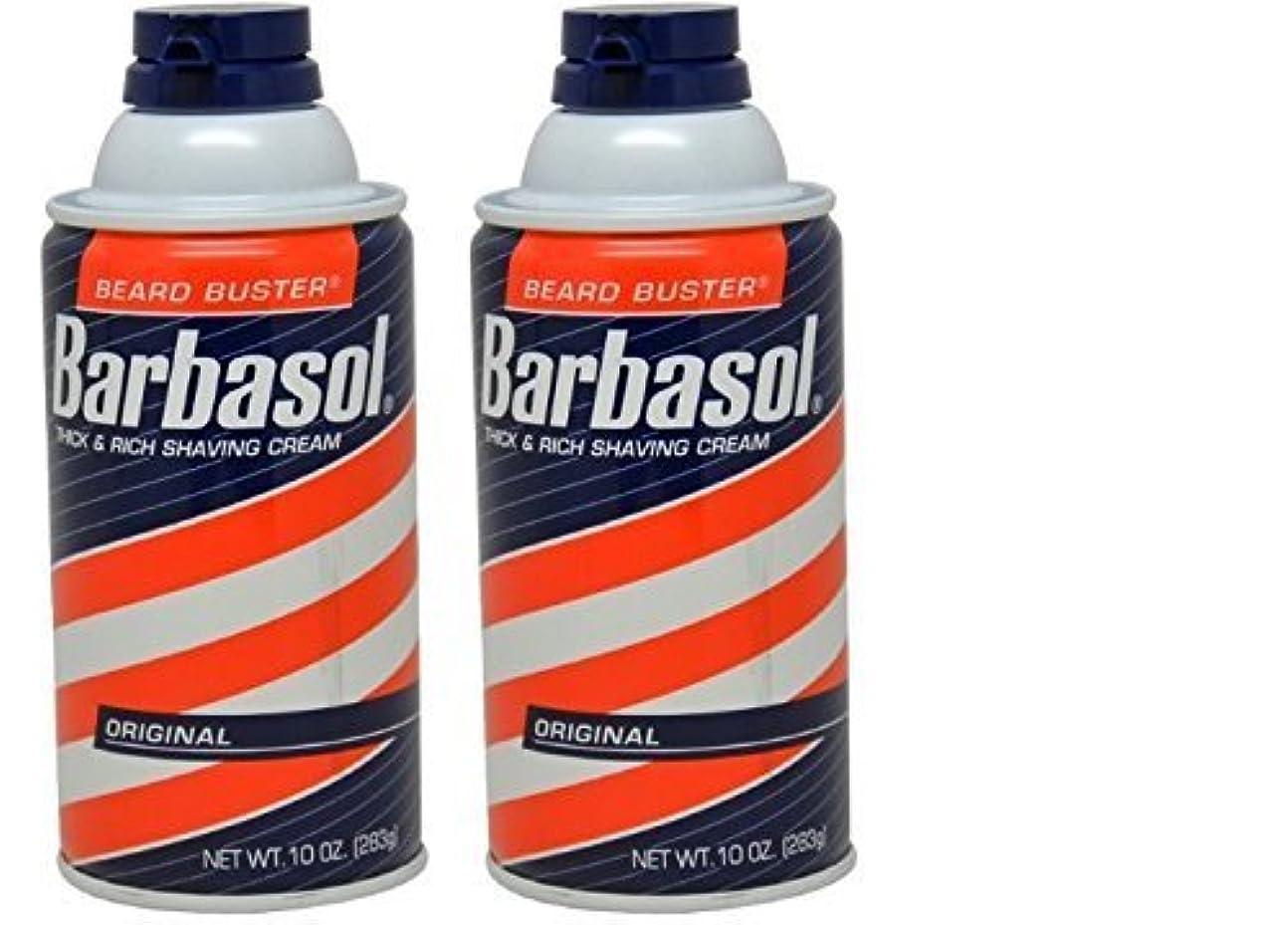 固有のリード不均一Barbasol Original Thick and Rich Cream Men Shaving Cream 10 Ounce (Pack of 2) [並行輸入品]