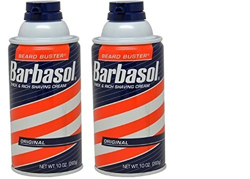 退屈ラフトタッチBarbasol Original Thick and Rich Cream Men Shaving Cream 10 Ounce (Pack of 2) [並行輸入品]