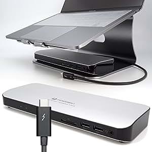 Thunderbolt 3 40Gbps PD 4K 60Hz DualDisplay Docking Station Professional TB3DS1230-MSJ -60W PD Charge「承認検査・認証済み正規製品」ケーブル・電源付き
