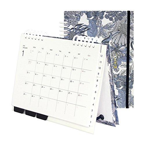 カール事務器 カレンダー 手帳 2018年 1月始まり マンスリー A5 リバティ アンジェリカ・ガーラ CCT-1804