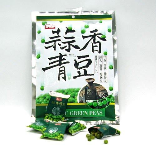 にんにく味グリーンピース菓子 小袋25袋いり 蒜香青豆