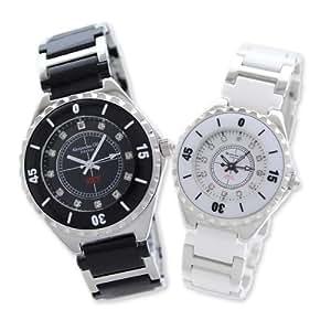 [アレッサンドラオーラ]Alessandra Olla ペアウォッチ 腕時計 AO-12 メンズ ブラック レディース ホワイト