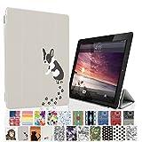 MIxUP iPad2 iPad3 iPad4 スマート カバー バック ケース 手帳型 スタンド 機能 アイパッド 2/3/4 おしゃれ かわいい 動物 犬 いぬ フレンチ ブルドッグ MXP-4-ssANI-dog