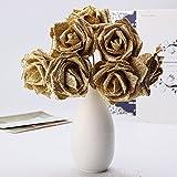 イッピー 7個人工花束キラキラ泡人工花結婚式ブライダルパーティーデコレーションDIYローズ