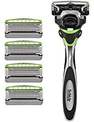 Schick Hydro Sense Sensitive Razors for Men With Skin Guards and Shock Absorbent Technology, 1 Razor Handle and...