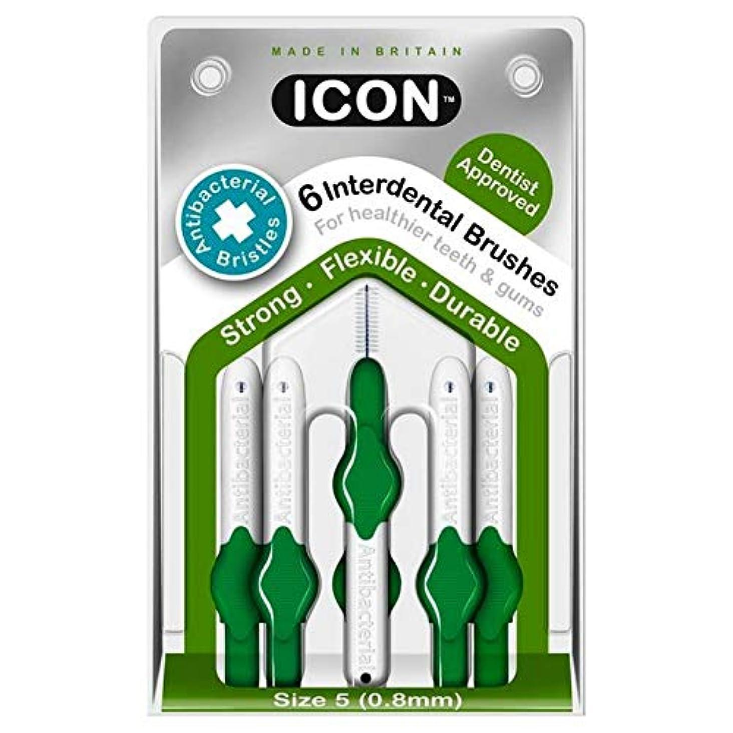 批判的にスポーツボリューム[Icon ] アイコンの歯間には、パックあたり0.8ミリメートル6ブラシ - Icon Interdental Brushes 0.8mm 6 per pack [並行輸入品]