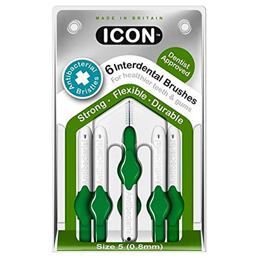 膨らませるファウル周囲[Icon ] アイコンの歯間には、パックあたり0.8ミリメートル6ブラシ - Icon Interdental Brushes 0.8mm 6 per pack [並行輸入品]