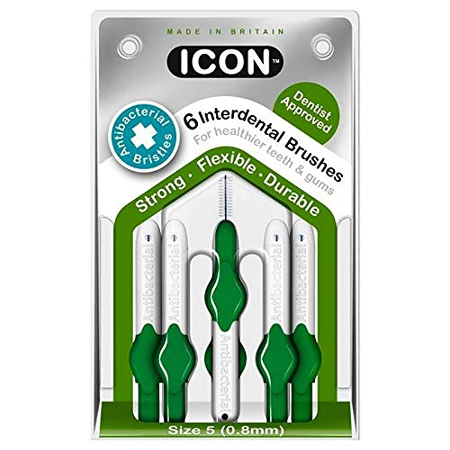 ピンランチョン固有の[Icon ] アイコンの歯間には、パックあたり0.8ミリメートル6ブラシ - Icon Interdental Brushes 0.8mm 6 per pack [並行輸入品]