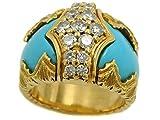 ヤーネス 色石 ダイヤモンド リング 中古 レディース K18YG 10号 17.9g YANES 18金 750 イエローゴールド 指輪 カラーストーン ダイア 質屋 免税 TAXFREE DUTY A6013493