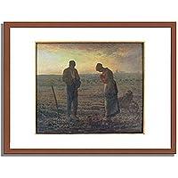 ジャン=フランソワ・ミレー Jean-Francois Millet「晩鐘 Evening Prayer (L」 インテリア アート 絵画 プリント 額装作品 フレーム:木製(茶) サイズ:L (412mm X 527mm)