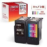 Lemero Canon(キャノン) インクカートリッジ リサイクル BC-340XL+BC-341XL 2個セット[ブラック+3色カラー] 増量タイプ【インク残量検知対応】[対応機種 PIXUS MX513/ MX523/ MG2130/ MG3130/ MG3230/ MG3530/ MG3630/ MG4130/ MG4230/ TS5130]【365日保証】