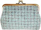 丸眞 ポーチ(小) ブルー W14×H10×D3cm ブークレ 英国 MOON社 ウール生地使用 0405005700