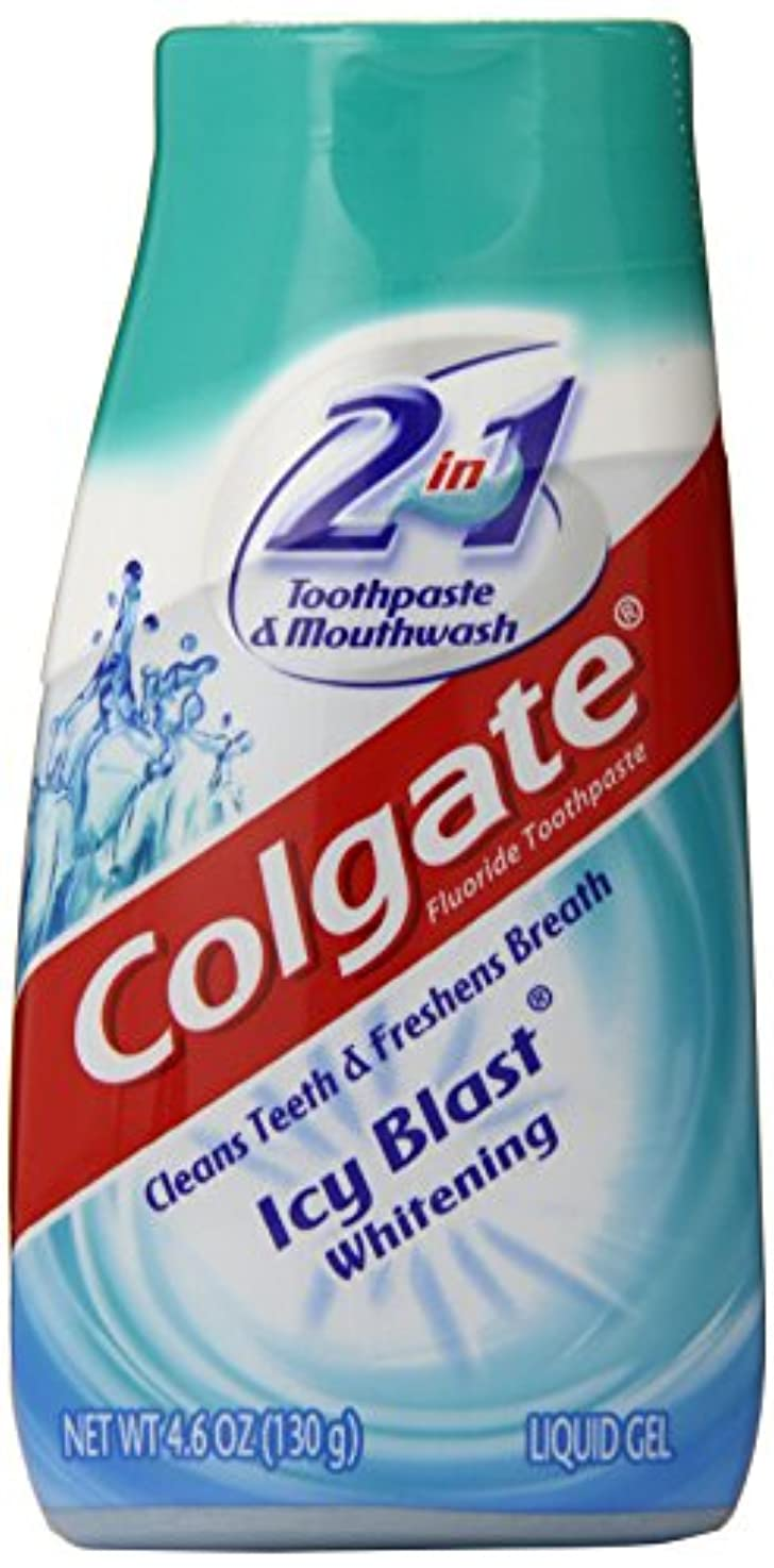 悪意のある口述するカメColgate 2-IN-1ホワイトニング歯磨き粉ゲルうがい薬、氷ブラスト - 4.6オンス 4.6オンス
