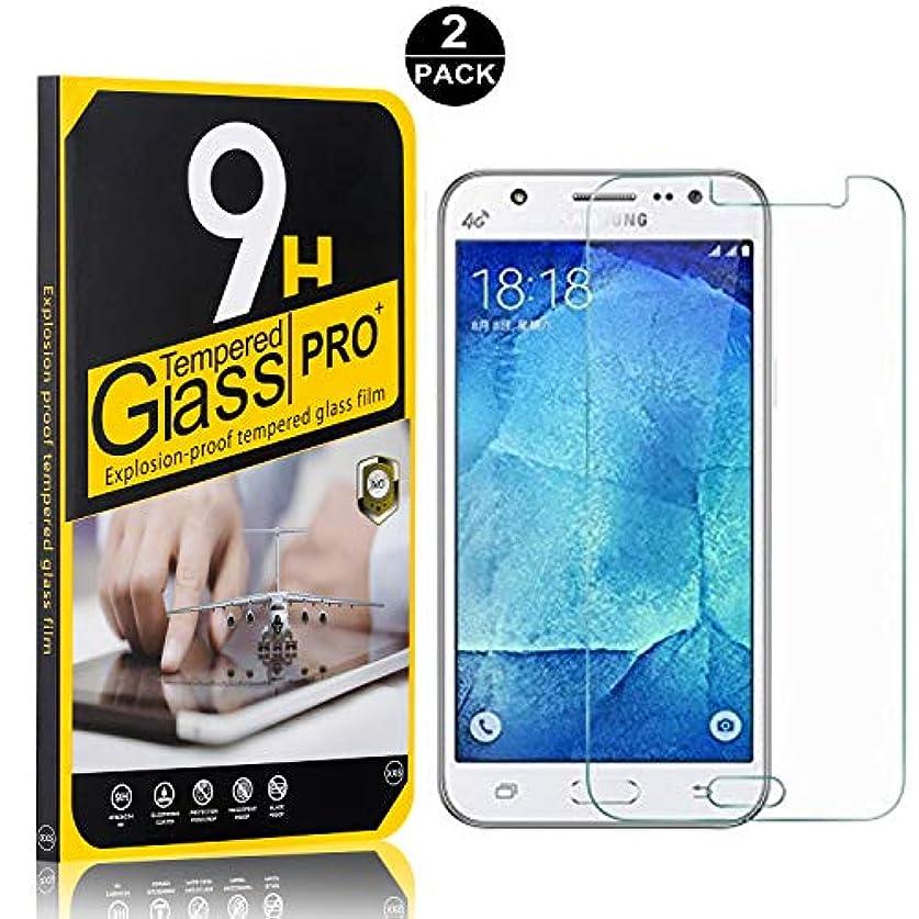 進化既になしで【2枚セット】 Galaxy J5 2016 フィルム CUNUS Samsung Galaxy J5 2016 専用設計 強化ガラスフィルム 硬度9H スーパークリア オイル防止 高感度タッチ 耐衝撃 超薄 液晶保護フィルム