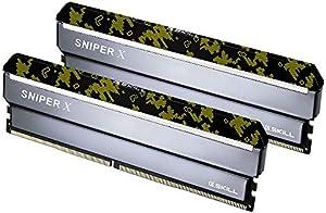 G.SKILL 16GB (2 x 8GB) Sniper Xシリーズ DDR4 PC4-28800 3600MHz デスクトップメモリ モデル F4-3600C19D-16GSXKB