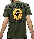 (アルファ インダストリーズ) ALPHA INDUSTRIES INC Tシャツ メンズ ブランド 半袖 ロゴ バックプリント シガーポケット 3color M アーミーグリーン