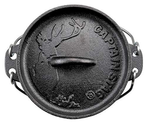 CAPTAIN STAG (キャプテンスタッグ) キャンプ バーベキュー ダッチオーブン 鉄鋳物 シーズニング不要 B07PLVYN79 1枚目