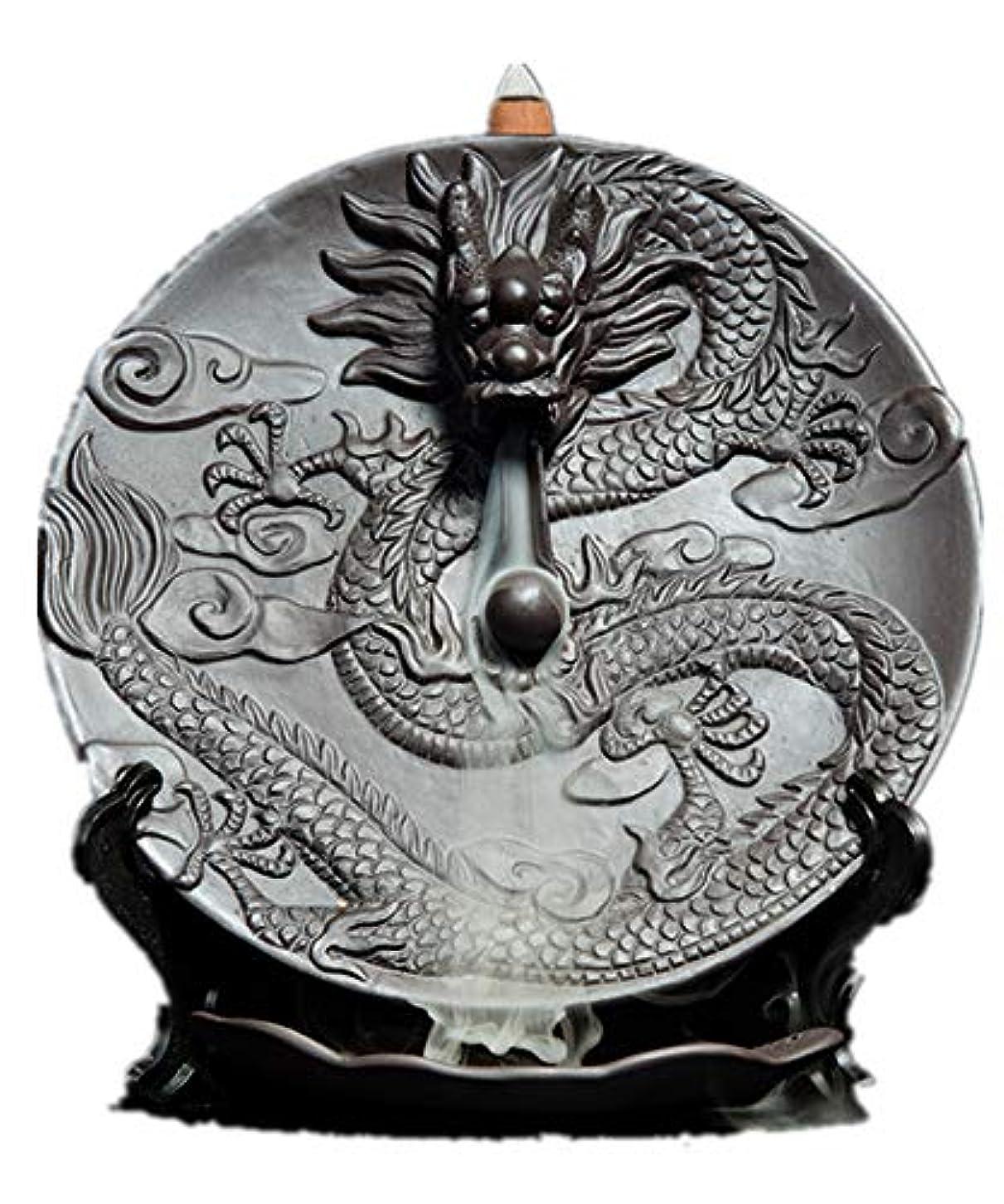 ワイン加害者文句を言うXPPXPP Backflow Incense Burner, Household Ceramic Returning Cone-shaped Candlestick Burner
