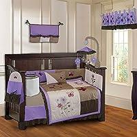BabyFad Purple Blossom 10 Piece Baby Crib Bedding Set [並行輸入品]
