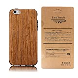 TaoTech iPhone5 iPhone5s iPhoneSE 4.0インチ 対応 高級 天然木製 薄型 木目 木製 木調 シリコン iPhone木製 ケース