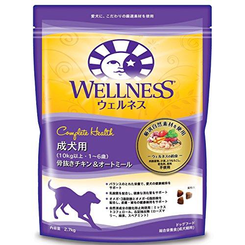 ジャパン ウェルネス 成犬用 1-6歳 骨抜きチキン&オートミール 2.7kg