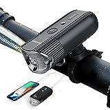 自転車ライト ,SHENKEY 4000mah 1000 ルーメン 自転車前照灯 高輝度 USB充電 智能感光+LEDアクセサリーモード+モバイルバッテリー機能搭載 IP65防水 (12ヶ月安心保証) ?新品&改良品?(ブラック)
