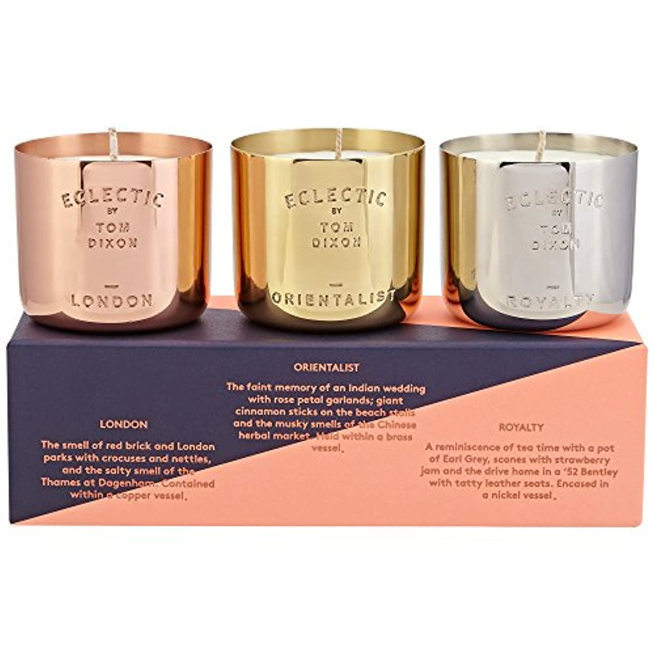 暖炉知事ハッチトムディクソン香りのキャンドルギフトセット x6 - Tom Dixon Scented Candle Gift Set (Pack of 6) [並行輸入品]