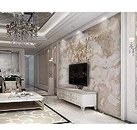 Chunxd 高級3D壁紙パターンカスタム壁壁画用リビングルーム寝室の壁カバー3D壁紙壁ソファテレビ背景壁-350X250Cm