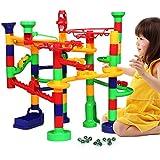 くみくみスロープ CACUSN 78個セット ビーズコースター 遊びで育てる おもちゃ コロコロ遊び DIY玩具 ジャンプ&大車輪 誕生日