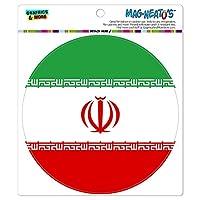 イラン国立国旗 - サークル MAG-格好いい'S(TM)カー/冷蔵庫マグネット