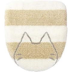 オカ うちねこ 洗浄暖房型専用 ロングサイズ トイレフタカバー 吸着シートタイプ (ホワイト)