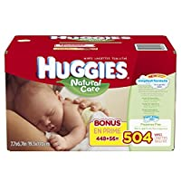 Huggies Natural Care Baby Wipes, Refill, 504 Count by Huggies