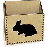 ' Bunnyシルエット'木製レターホルダー/ボックス( lh00028963)