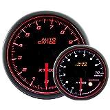 AUTOGAUGE(オートゲージ) 日本製モーター 52mm タコメーター 2色バックライト エンジェルリング ワーニング付 458シリーズ