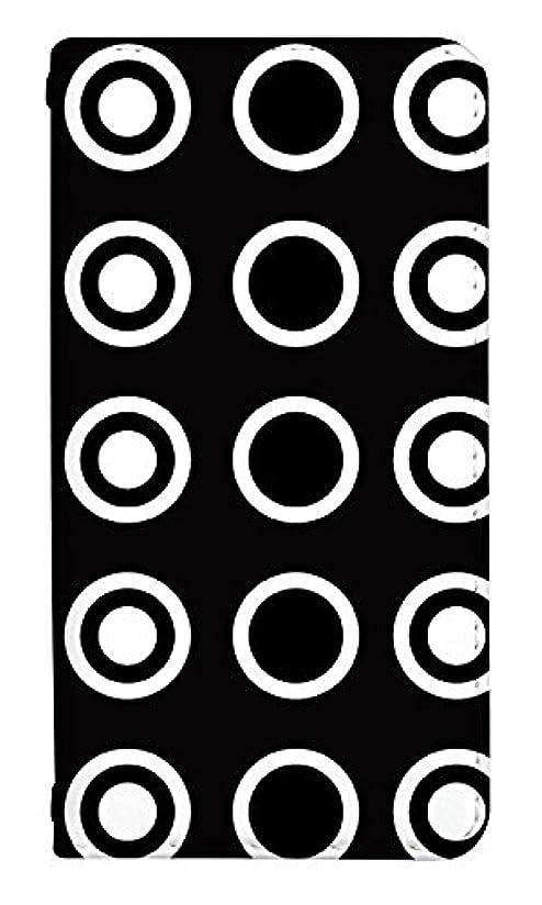 クルーズキャプテン水差しスマホケース 手帳型 ベルトなし IPHONEXR ケース 8002-D. サークル_ホワイトブラック IPHONE XR アイフォンXR アイフォンケース 手帳 [iPhoneXR] アイフォンテンアール