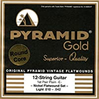 PYRAMID STRINGS EG Gold 12 strings 010-042 フラットワウンド 12弦用エレキギター弦
