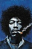 ロックポスター Jimi Hendrix ジミ・ヘンドリックス Blue ポスター