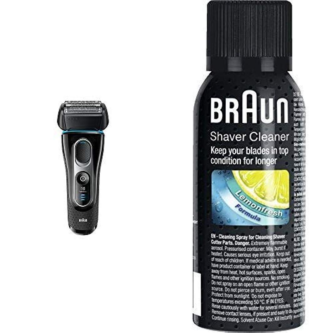 機密洋服商人ブラウン シリーズ5 メンズ電気シェーバー 5147s 4カットシステム 水洗い/お風呂剃り可 & シェーバークリーナー SC8000 SC8000