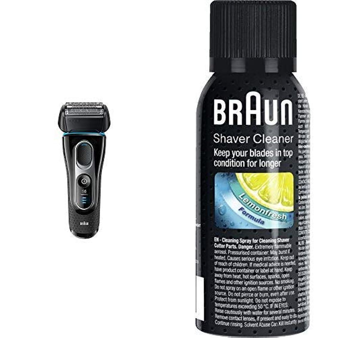 強い長さシミュレートするブラウン シリーズ5 メンズ電気シェーバー 5147s 4カットシステム 水洗い/お風呂剃り可 & シェーバークリーナー SC8000 SC8000