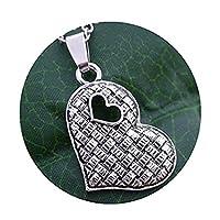 ハートのネックレス、銀の心臓ネックレス シルバーのネックレス、ラブネックレス 上品なネックレス、ハートチャーム
