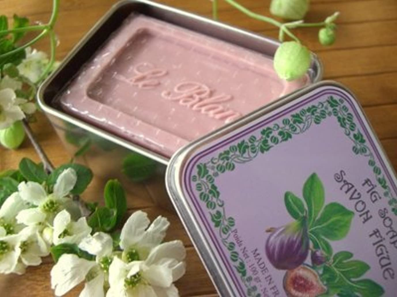 不名誉な容器区別LE BLANC SOAP(ルブランソープ) イチジクの香り LB007ルブランソープ メタルボックス(leblanclb007)