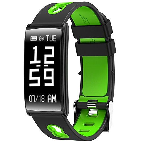 [해외]RUNACC 스마트 워치 수면 측정기 혈압계 LED 패널 원격 셔터 기능 활동량 계 들어오는 소식 심장 보수계 거리 측정기 경보 앉아주의 건강 통계 IP67 방수 Bluetooth4.0 Android &  IOS 지원/RUNACC Smart Watch Sleep Meter Blood Pressure Monitor ...