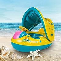 キッズ ベビー 赤ちゃん 子供用 浮輪 足入れ 海 プール で 大活躍 かわいい 海 フロート リゾート 夏の必需品 可愛い 水遊び 座うきわ屋根付き 日焼け予防 ベビー 水遊び プール 海用 Honearny