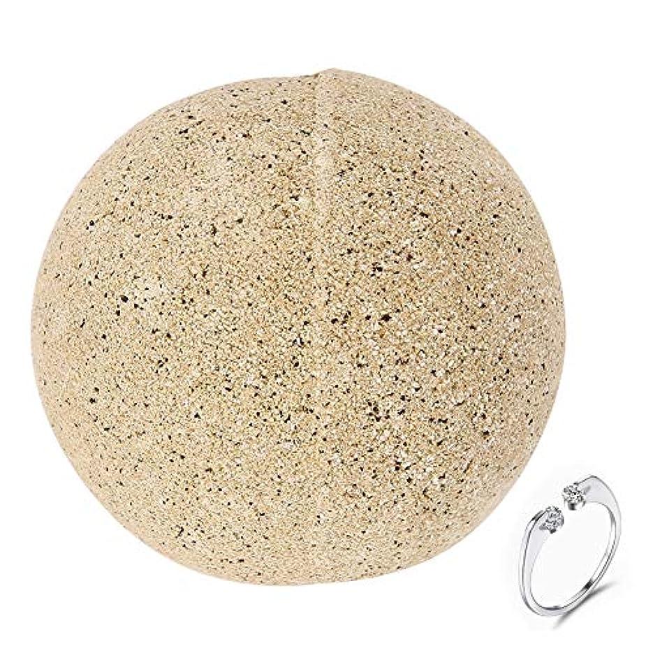 入る食欲克服する入浴剤 バスボム バス爆弾ギフト 香り爆弾 お風呂用 天然海塩 ボディソープ 天然素材 うるおい肌 しっとり感 潤い 乾燥肌 敏感肌 純銀製のリング付き サプライズギフトとして
